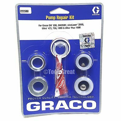 Graco Gm Em 590 Gm 3500 Ultra 433 750 1000 Pump Packing Repair Kit 222588