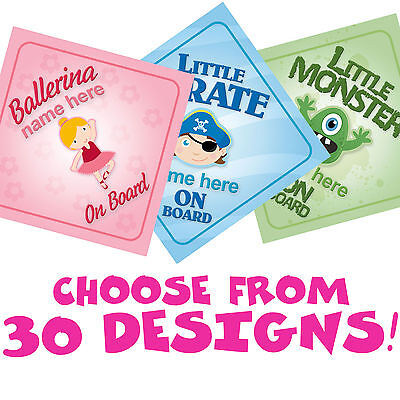 Baby on Board signs. Choice of 30! Personalised Boy/Girl Unique Baby Shower Gift