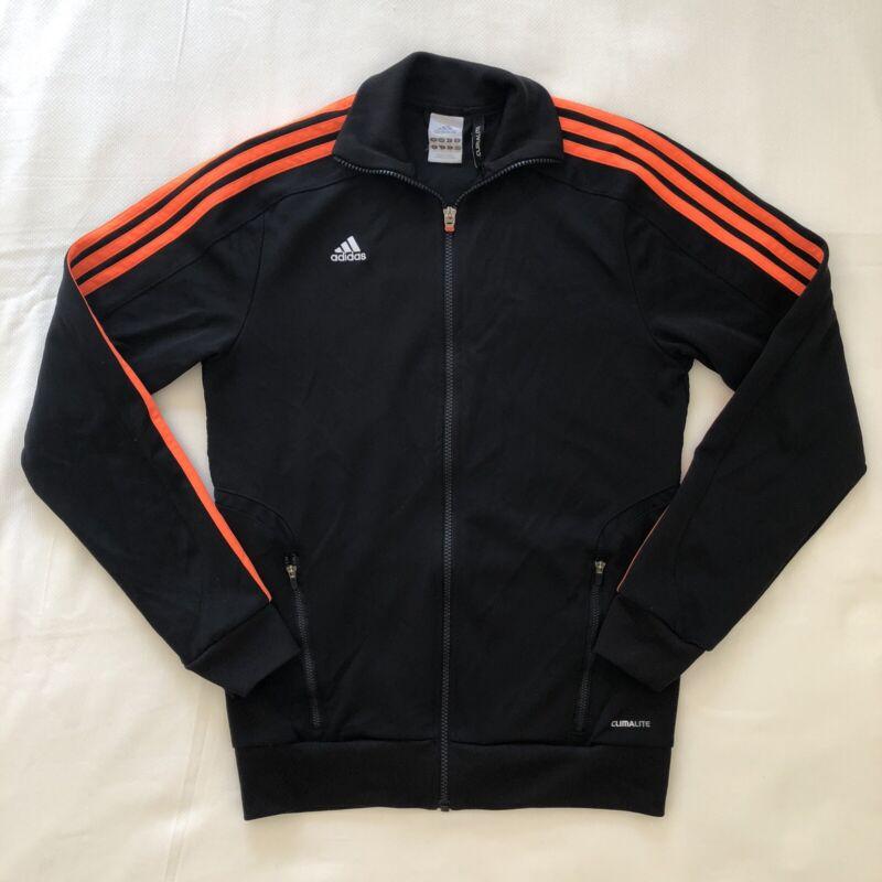 Adidas Women's Classic Track Jacket, Black/Orange Stripe, Small