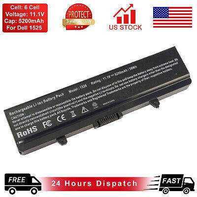 58Wh Battery for DELL Inspiron 1525 1526 1545 1546 X284G PP29L PP41L Vostro 500