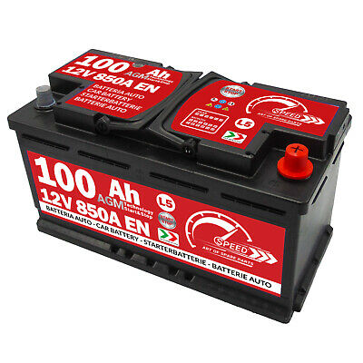 Speed AGM Autobatterie 12V 100Ah 850A EN Start Stop