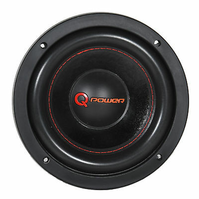 Q Power Car Audio Super Heavy Duty 1500 Watt 8 Inch DVC Component Subwoofer