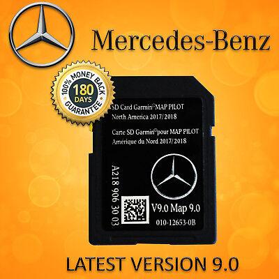 2018 2019 Mercedes-Benz SD Card GPS Navigation GLC C-Class Garmin Map Pilot V9.0