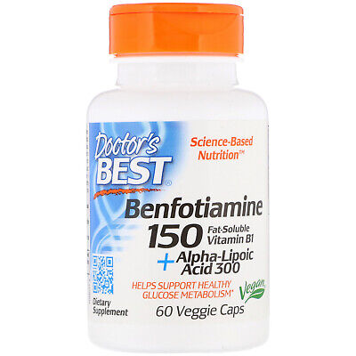 Benfotiamine 150 + Alpha-Lipoic Acid 300, 60 Veggie