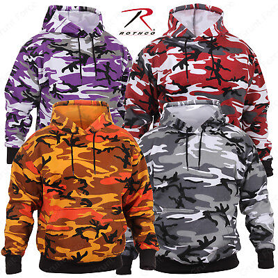 Rothco Camo Pullover Hoodie - Military Style Camouflage Hooded Sweatshirt Camo Hooded Pullover