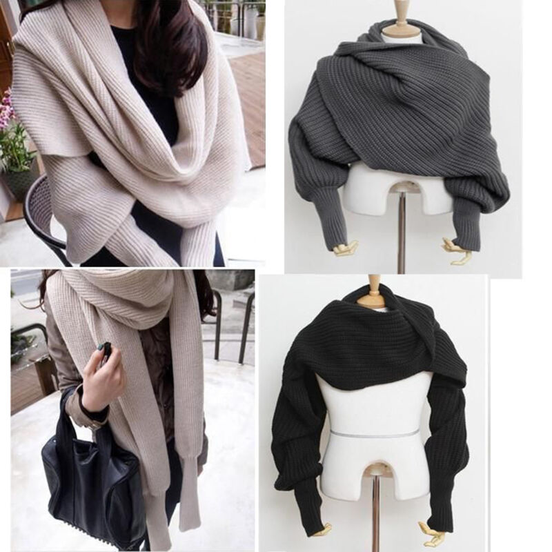 Scarf - Women's Fashion Winter Warm Soft Wool Scarf Pretty Long Wrap Shawl Scarves US