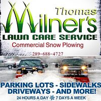 Commercial Snow Plowing. Fully insured. Durham