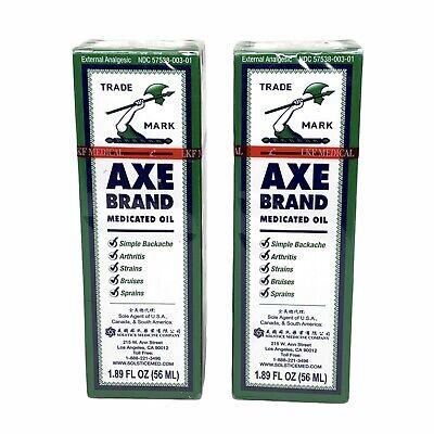 Axe Brand Universal Medicated Oil ~ 56ml 2 Bottles Exp 2/8/23