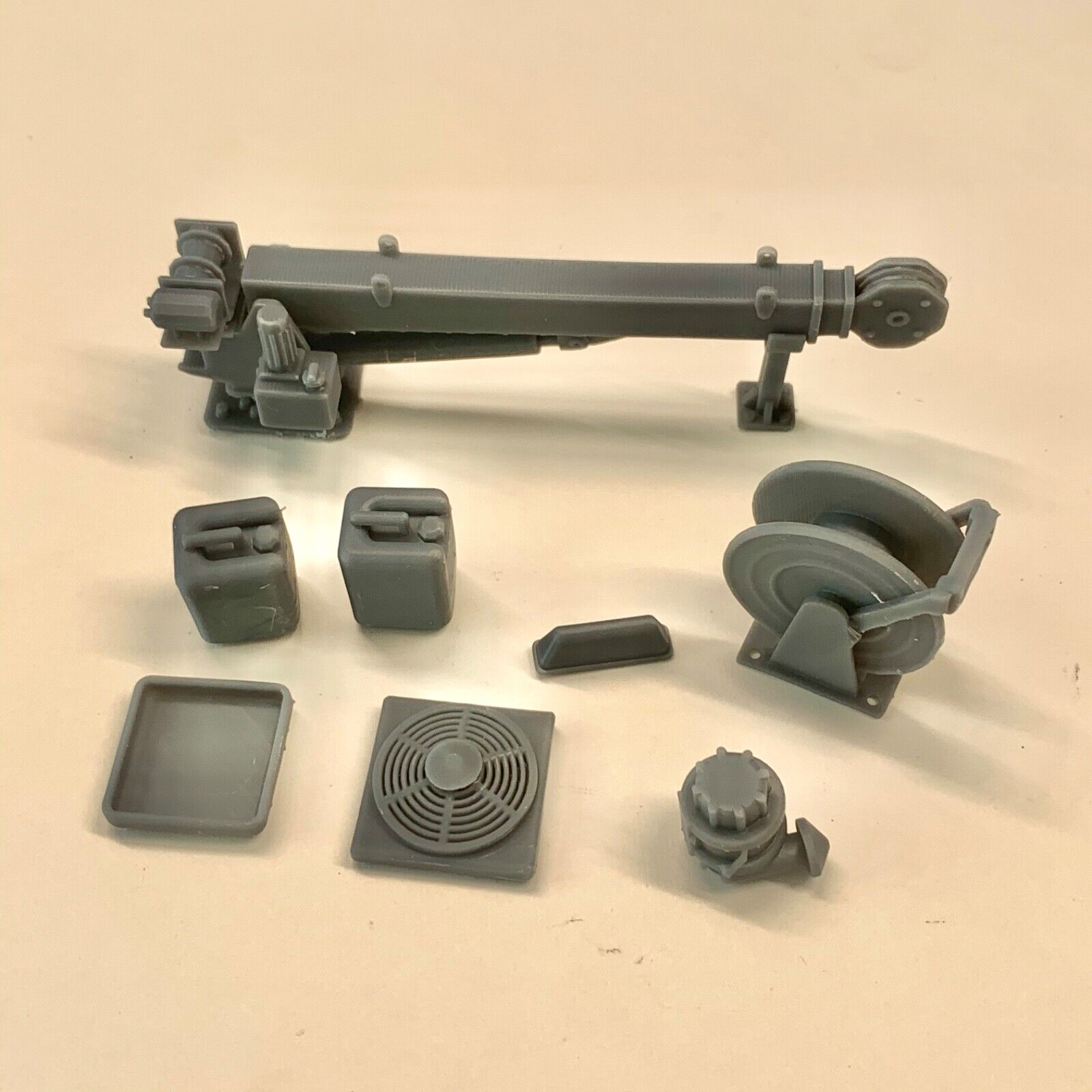 Resin Crane & Accessories Set for Utility Service Bed Truck