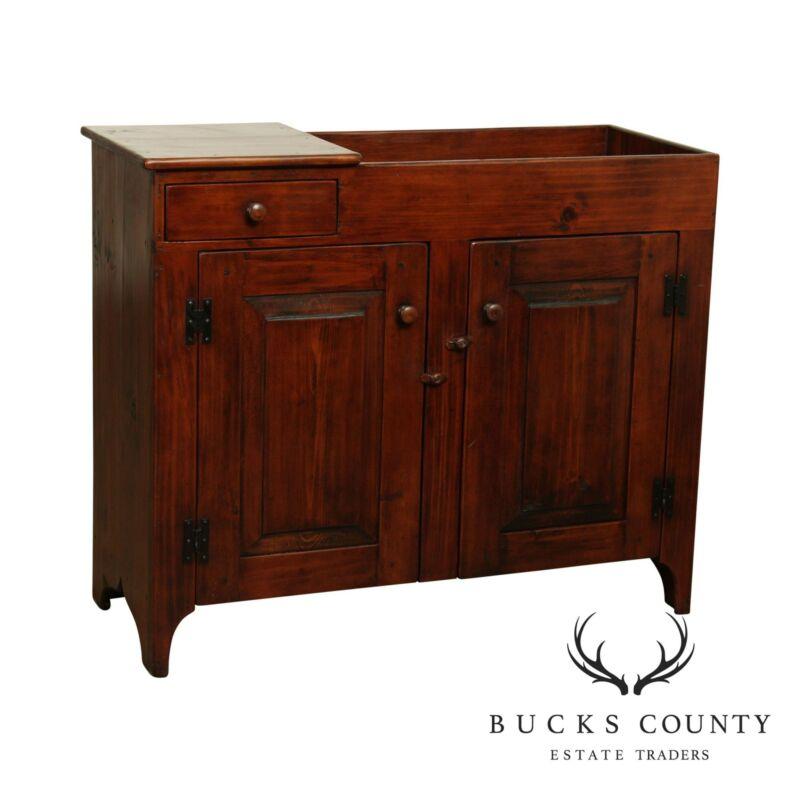 Roger S Wright Bucks Counts Custom Pine Drysink Cabinet