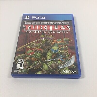 Teenage Mutant Ninja Turtles Mutants in Manhattan PlayStation 4 PS4 Game & Case