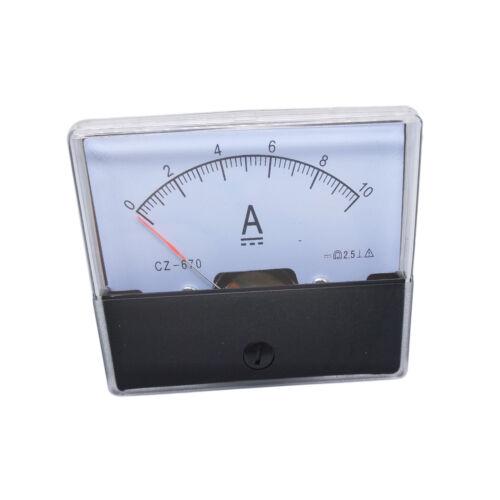 US Stock Analog Panel AMP Current Ammeter Meter Gauge DH-670 0-10A DC