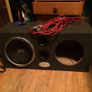 Amp + sub box + amp wiring kit