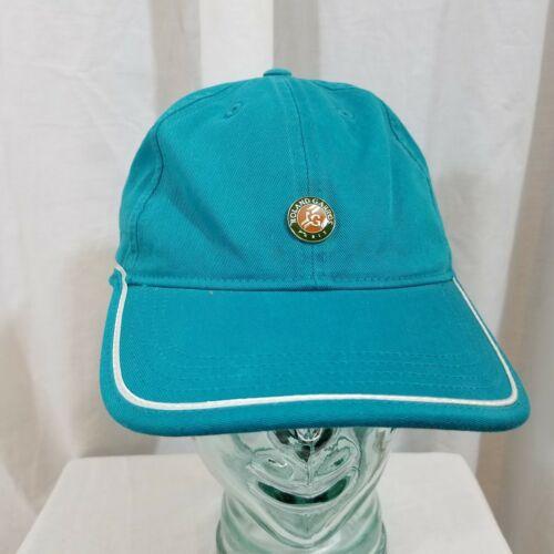 Roland Garros Paris Genuine Ball Cap Hat Strapback Buckle Adjustable Green