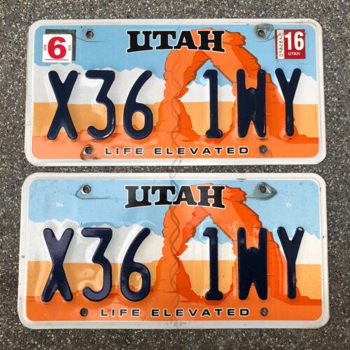 Paar Original US Auto Kennzeichen Nummernschild USA UTAH