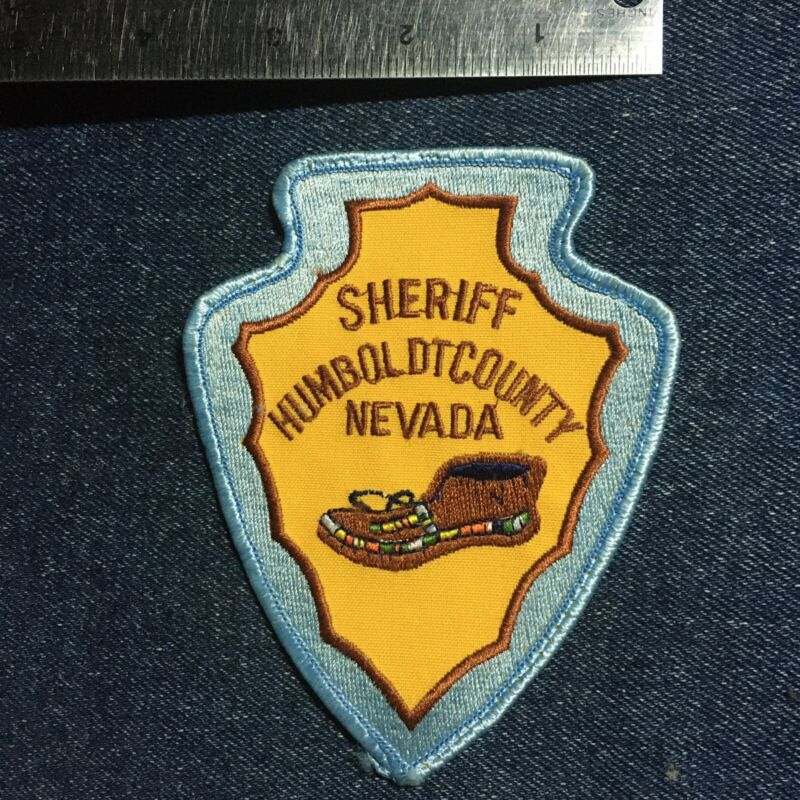 😎😎  Vintage Humboldt County Nevada Sheriff Shoulder Embroidered Sew On Patch