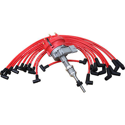 Ignition Distributor Plug Wire Set For 1985-91 Ford Bronco E150 F150 F250 5.0L 1985 Ford Bronco Distributor