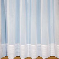 """Sarah Jayne - 7"""" Envelope Hem Base White Plain Net Curtain With Rod Slot"""