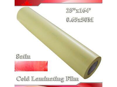 0.7X54.6Yard 2Mil Matt Satin Vinyl Cold Laminating Film Laminator (0.63x50M)