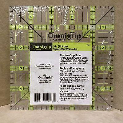 One (1) NEW Omnigrip 5 in X 5 in The Non-Slip Ruler