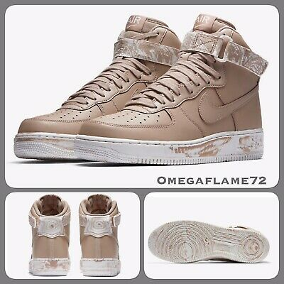Nike Air Force 1 One High LV8 Men's 8.5 Sand Summit Tan Shoes AT3293 200 Marble