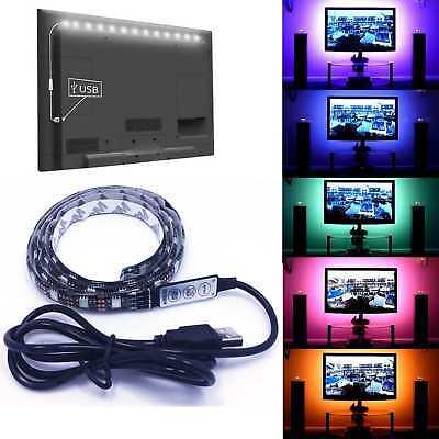 Tira de led RGB controlador USB 2 Metro MULTICOLOR se conecta TV AMBILIGHT LUZ