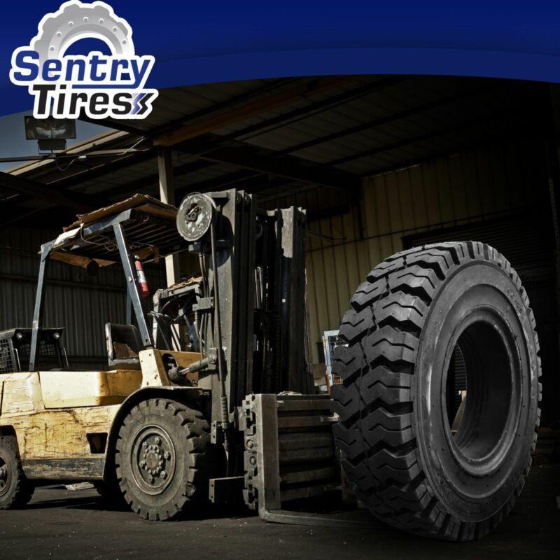 250-15 Sentry Tire Solid Forklift Tires (1 Tire) K Pattern for 7.00 Rim Width
