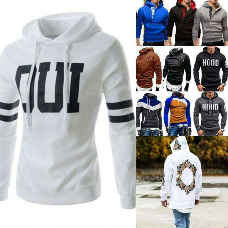 US Men Winter Pullover Hoodie Warm Hooded Sweatshirt Coat Ja