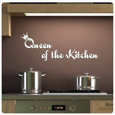 Küche Queen (Wandtattoo Queen of the Kitchen Wandaufkleber Küche Lounge BAD WC Kaffee W929 )