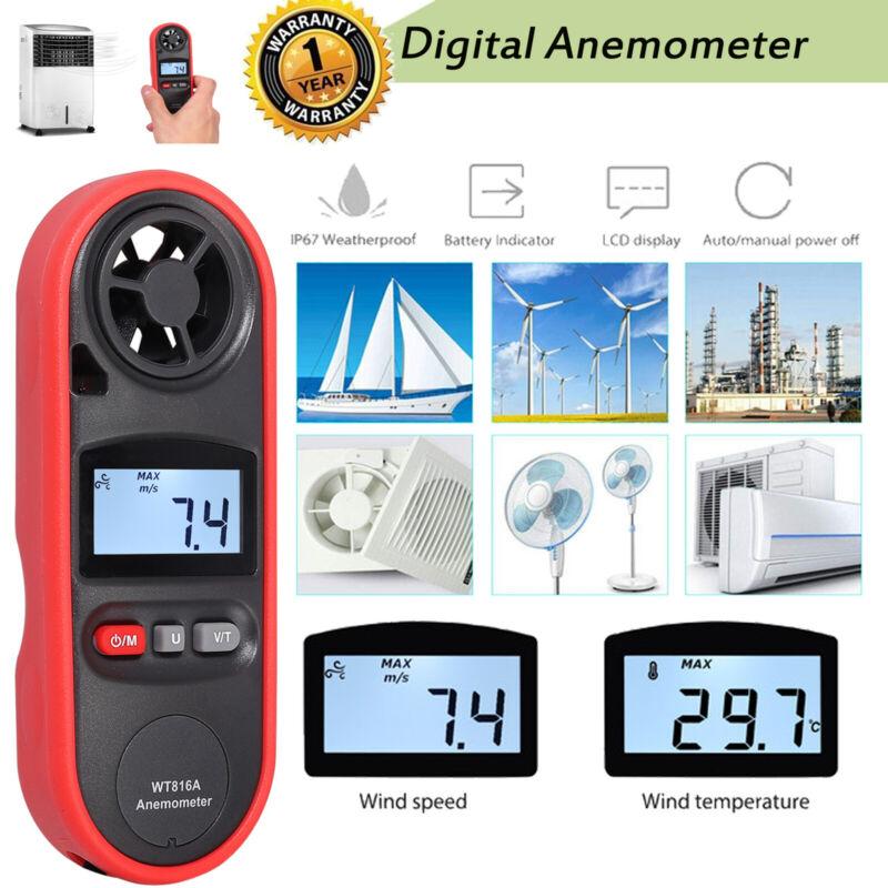 LCD Digital Anemometer Wind Speed Meter Accurate Gauge Test Wind Chill Air Flow