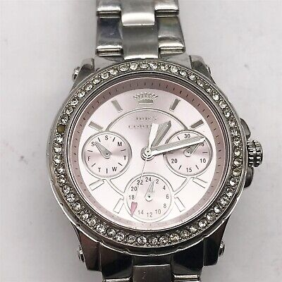 Fat Lady Costume (VINTAGE JUICY COUTURE LADIES COSTUME JEWELLERY PINK DIAL WRISTWATCH)