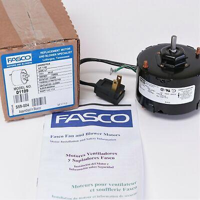 D1109 Fasco For Nutone Bathroom Fan Vent Motor 23405 23388 7163-9363