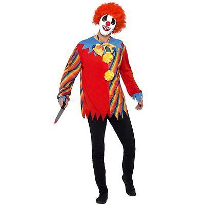 Erwachsene Rainbow Gruselig Zirkus Clown Halloween Kostüm Satz Top Maske Fliege