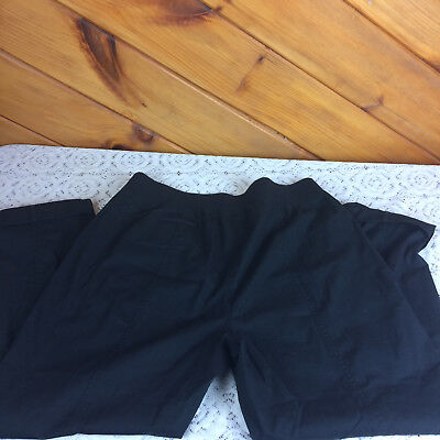Ladies Chicos Sizing 2 black Capri peddle pushers pants slacks preowned F21