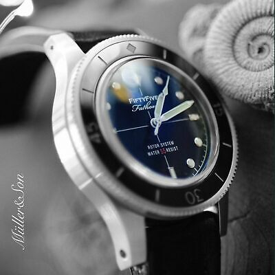 "Müller&Son Watch Mod ""AL"" Fifty Fathoms Homage with NH35 Movement + Rubber Strap"