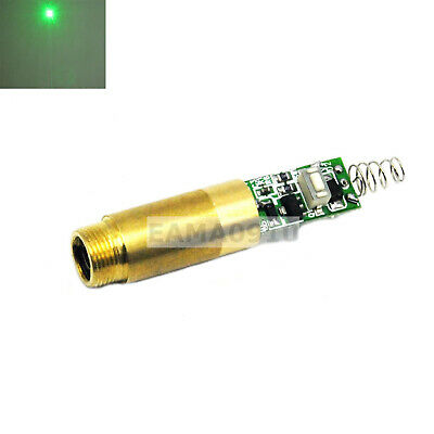 3vdc Green Laser 532nm 20mw Dot Diode Module Brass Host W Driver Board