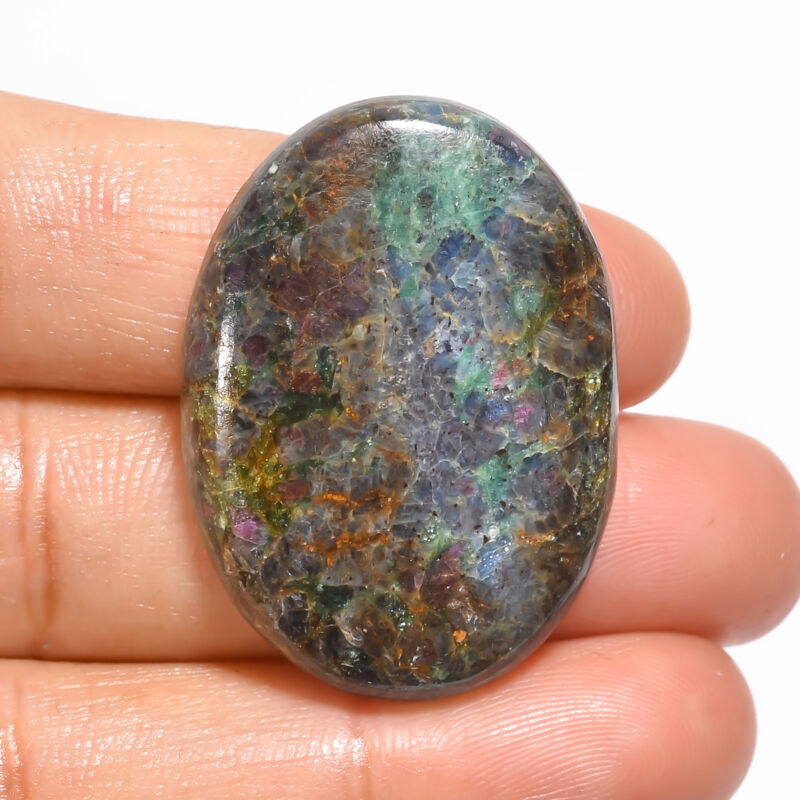 Natural Ruby Fuchsite Oval Shape Cabochon Loose Gemstone 47 Ct 34X24X5mm EE19073
