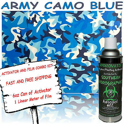 Hydrographic Film Water Transfer Hydro Dip 6oz. Activator W Army Blue Camo Dip