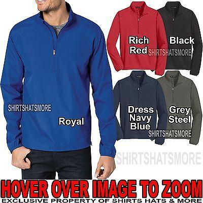 Mens 1/2 Zip Wind Shirt Pullover Jacket Golf Water Resist XS-XL, 2XL, 3XL, 4XL ()