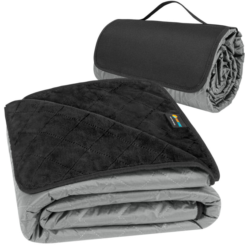 Waterproof Outdoor Sherpa Blanket Mat for Camping Picnic Beach Festival Portable