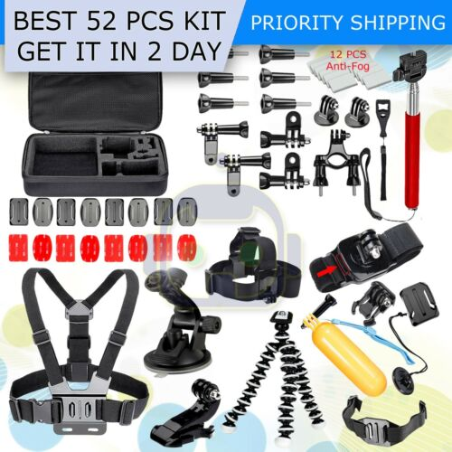 Accessories Kit For GoPro Hero 7 6 5 4 3  Black Silver Withe New Go Pro 2018