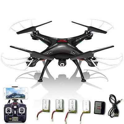 5 Batteries Syma X5SW-V3 RC Quadcopter 2.4Ghz 4CH Drone WIFI FPV HD Camera RTF