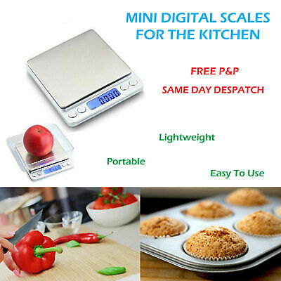 Digital Electronic Kitchen LCD Weighing Scales Pocket Food Jewellery 0.01g-500g