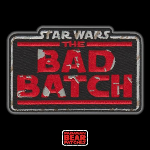 """Hasbro Kenner STAR WARS """"The Bad Batch"""" Vintage style logo embroidered4"""" patch"""