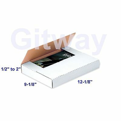 50- 12 18 X 9 18 X 2 Multi Depth Cardboard Book Packaging Shipping Box Boxes