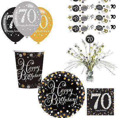 70. Geburtstag Dekoration mit Zahl 70 Deko runder Geburtstag Party Tischdeko ()