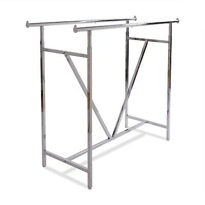 Econoco - Adjustable Heavy Duty Double Bar Retail Clothing Rack Rect K-41v