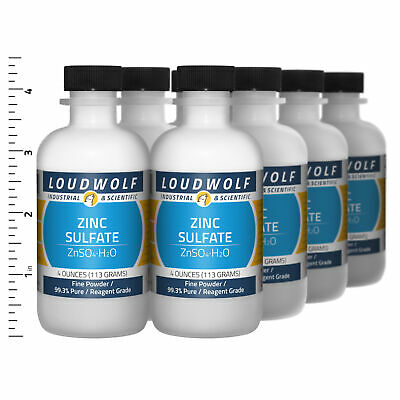 Zinc Sulfate 2 Lb Total 8 Bottles Reagent Grade Fine Powder Usa Seller