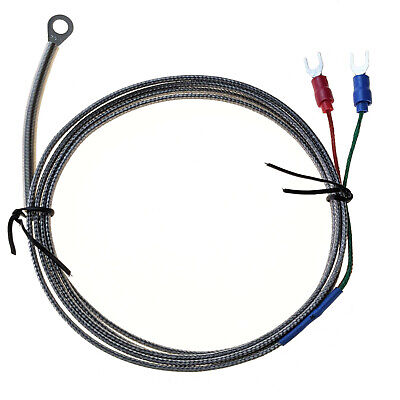 Industec 9x6mm Ring Loop Washer K - Type Thermocouple Temperature Sensor 1.5 M