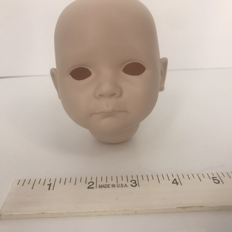 """Bisque Doll Head Reproduction """"Muffin"""" 116 Not Painted No Eyes"""